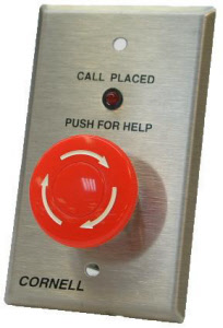 Emergency Station With Push-On, Twist-Off Mushroom Head Nurse Call Button and Call Placed Light