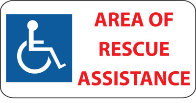 Area Of Rescue Assistance Signage Cornell Communications