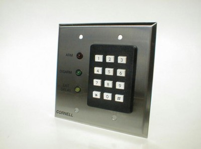 Keypad, Zone Control  with Arm/Disarm and Exit Time Delay on Two Gang Plate