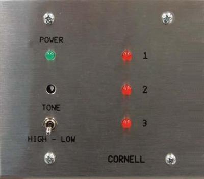 Annunciator, 3 Zone on 2 Gang Stainless Steel Plate