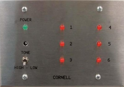 Annunciator, 6 Zone on 3 Gang Stainless Steel Plate