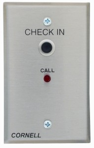 Check-In Station with Momentary Push Button and Call Placed Light