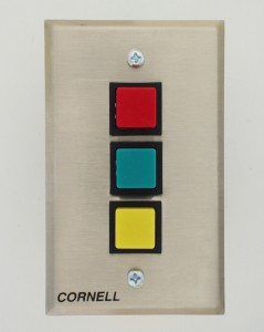 Status Switch, Three Push Button Switches on Single Gang Plate