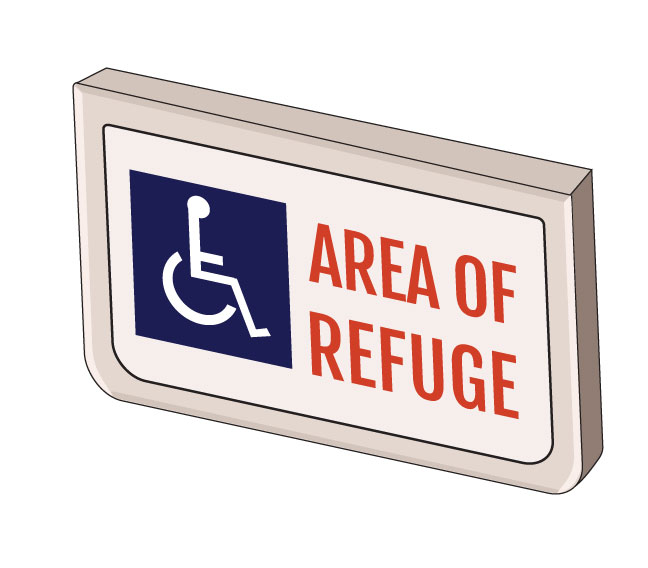 Digital Area of Refuge Signage