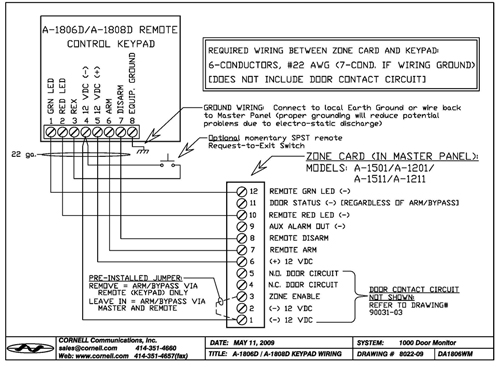 A 1806schematic door monitor keypad station cornell communications emergency Schematic Circuit Diagram at gsmx.co