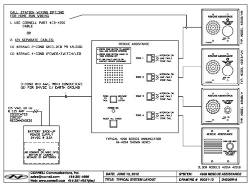 A 4200schematic call stations standard and weather resistant options cornell cornell nurse call wiring diagram at alyssarenee.co