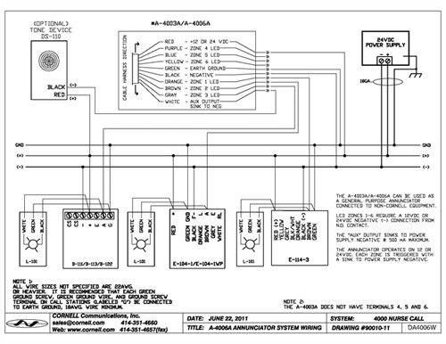 Nurse Call System Wiring Diagram Nurse Call System Wiring Diagram