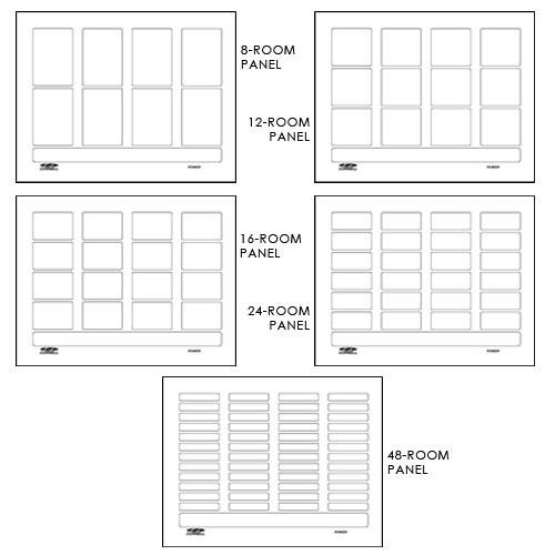 Nurse Call System Annunciator Panel Easy Label Series