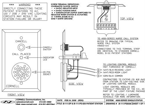 B 111EPschematic nurse call wiring diagram nurse call wiring diagram cat 5 \u2022 wiring nurse call station wiring diagram at eliteediting.co