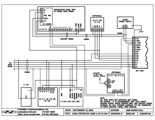 D 111schematic nurse call system wiring diagram nurse wiring diagrams collection InterCall Nurse Call Wiring-Diagram at bakdesigns.co