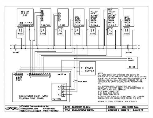 E 114schematic emergency stations pull string with auxiliary contact and led cornell e-114-3 wiring diagram at crackthecode.co