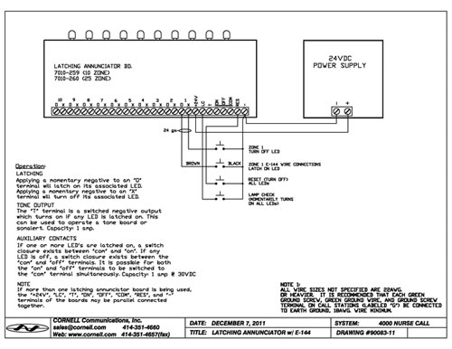 E 144schematic emergency station with momentary switch cornell communications cornell e-114-3 wiring diagram at crackthecode.co