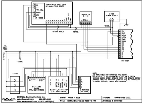 dukane nurse call wiring diagram